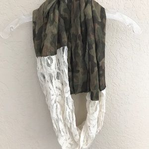Camo and Lace Circle Scarf